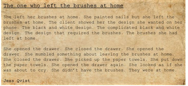 People - Writing - The one who left the brushes at home  - spa - stressed - embarrassed - unprofessional - poetry  https://jessoutsidethelines.wordpress.com/category/people/  https://www.wattpad.com/story/50957356-people