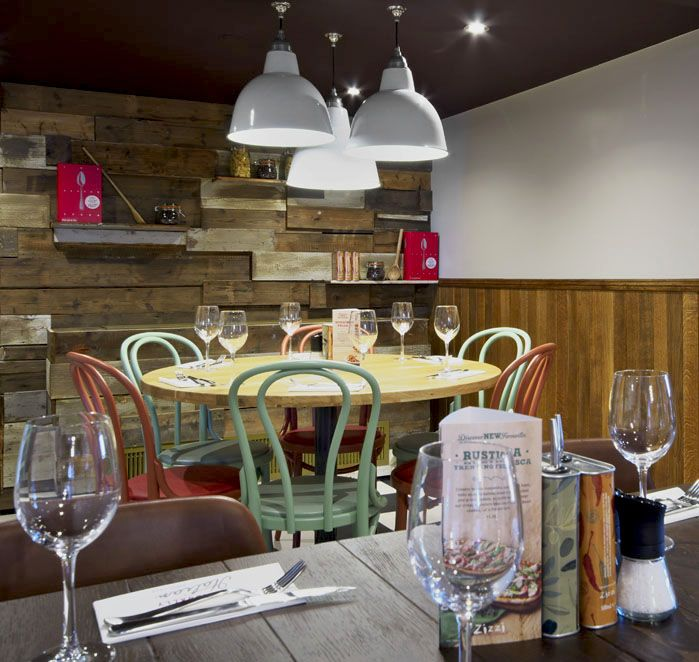 Well-lit social table | Zizzi Hereford, 2014