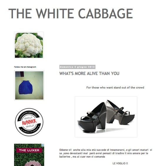 "THE WHITE CABBAGE (June 2013)_The White Cabbage says: ""Shoes bags an jewels designed by young international designers, fashion designers, architects, and creative artists. Every creation has a story of unique combinations of creativity and Italian handycraft. A challenge that transform ideas into a product maintaining connotation between the object and the concept."" @thewhitecabbage"