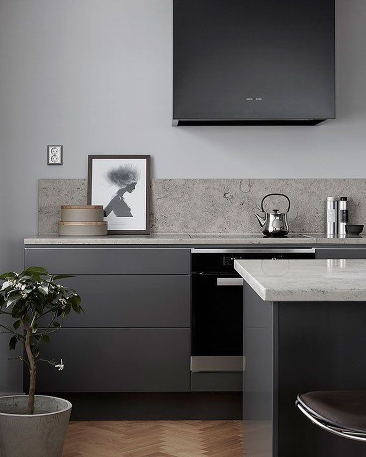Grey Kitchen Inspo For A Grey Winters Day. Our Showroom Is