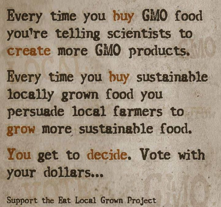 So true!  We should always choose fresh and organic foods over those food-like, unhealthy products. Choose wisely. Share and pass around to family and friends.
