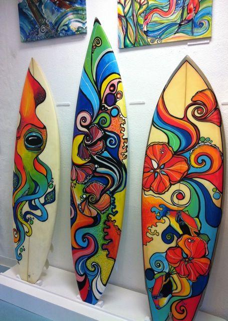 22 best surfboard art images on pinterest surf art for Surfboard bar top ideas