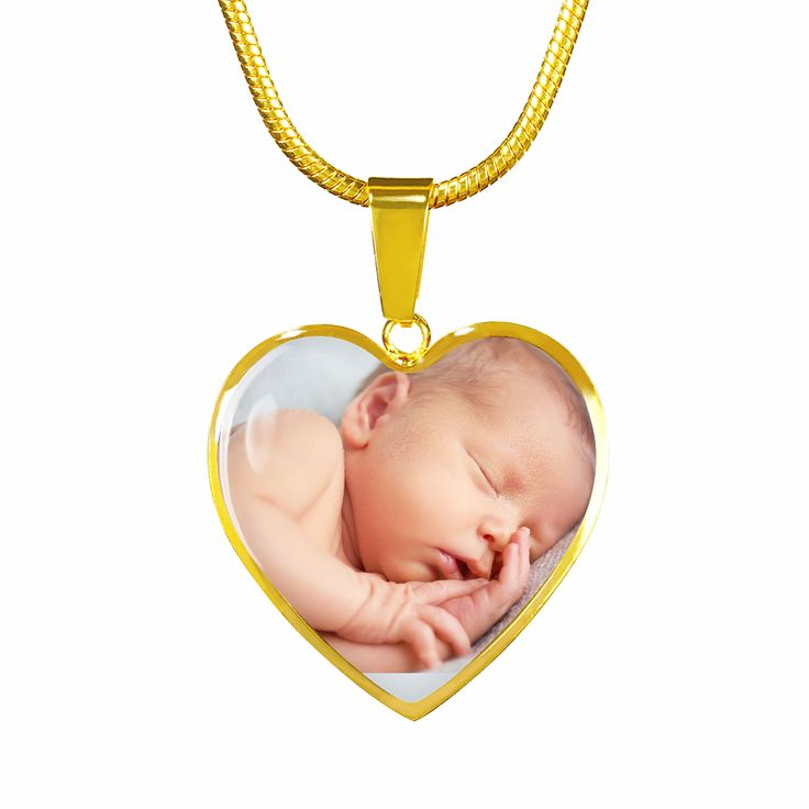 Love My Kid [Your Photo] Heart Necklace   – Family Jewelry