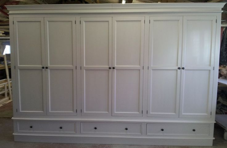 Painted 6 Door Wardrobe - Victorian Style with plinth
