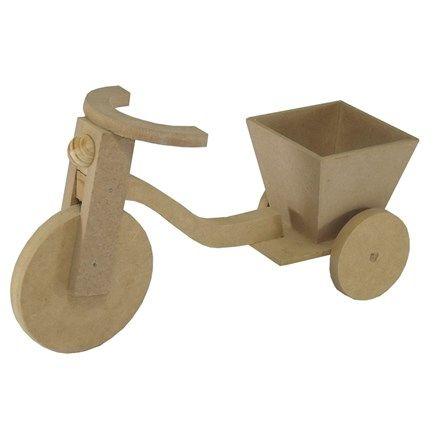 Miniatura em mdf - enfeite de mesa bicicleta com floreira