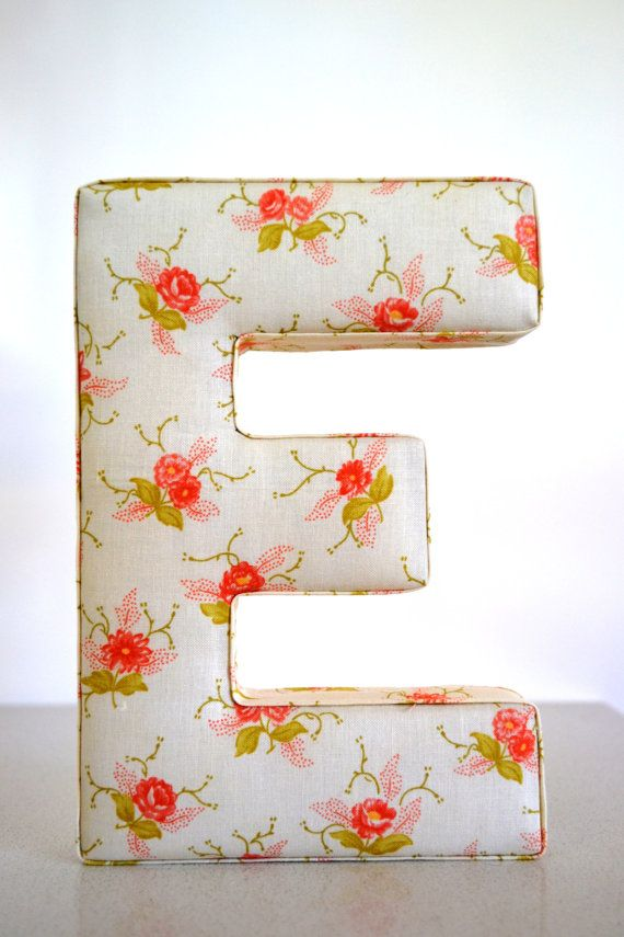 25 best ideas about hanging letters on pinterest for Fabric covered letters for nursery