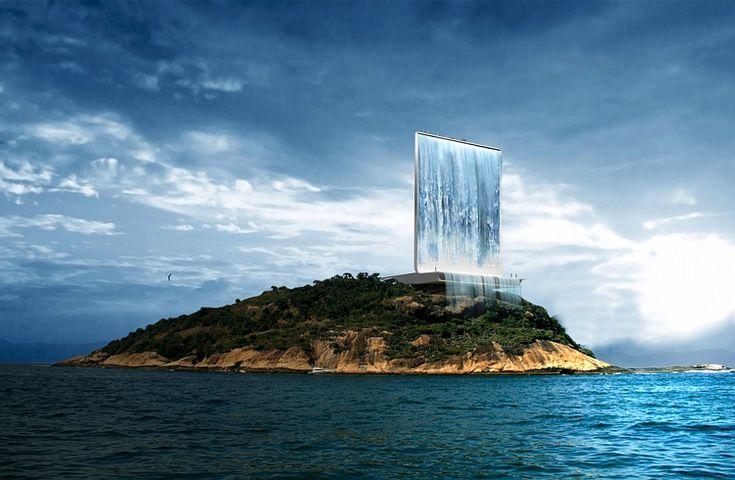 SOLAR CITY TOWER - Desenhada pelo gabinete RAFAA sedeado em Zurique, consegue gerar energia durante o dia e a noite, utilizando a energia solar e a hídrica, respectivamente. Esta torre irá gerar e fornecer energia não só para a aldeia olímpica, como também para a cidade do Rio.