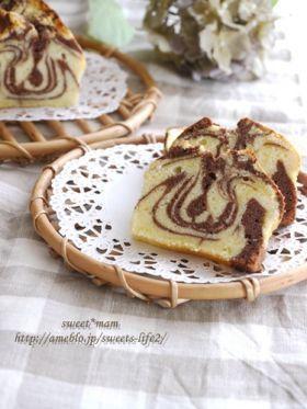 「チョコマーブルパウンドケーキ**」satomi* | お菓子・パンのレシピや作り方【corecle*コレクル】