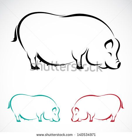Outline pictures of pigs Free vector for free download about (1) Free vector in ai, eps, cdr, svg format .