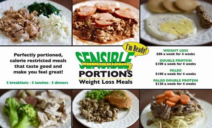 sensible portion weight loss meals