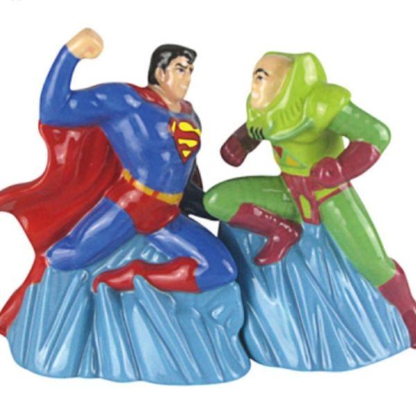 Superman vs Lex Luthor DC Comics Salt and Pepper Shakers