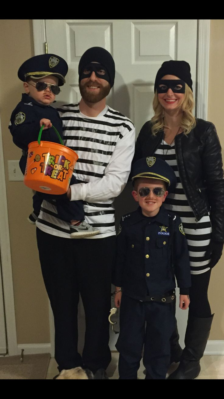 Cops & robbers, our family Halloween costume 2015