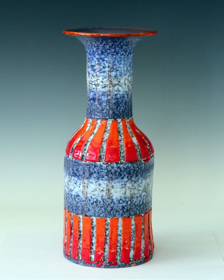 Vintage Bitossi Italian Art Pottery Incised Carved Vase Raymor Netter | eBay