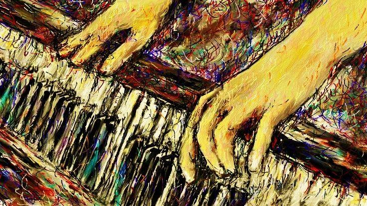 ピアノ練習 #イラスト #ピアノ 僕はピアノ曲が大好きで自分のイメージで、ピアノから出る音を色でお絵描きしてみました。  Bill Withers - Ain't No Sunshine http://youtu.be/tIdIqbv7SPo