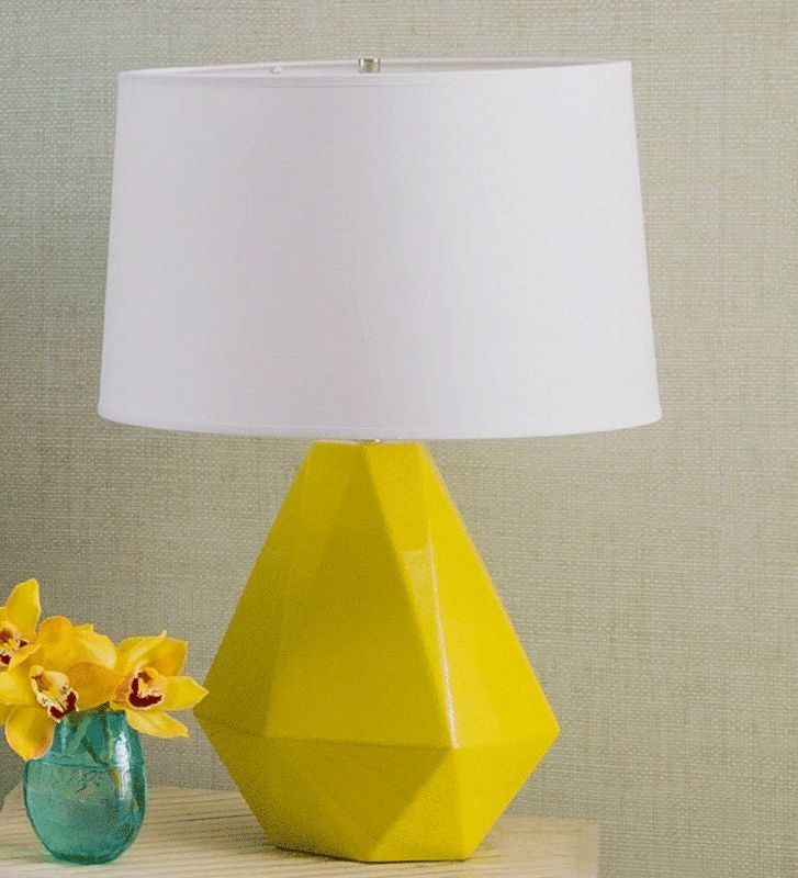 Geometric Bright Yellow Lamp