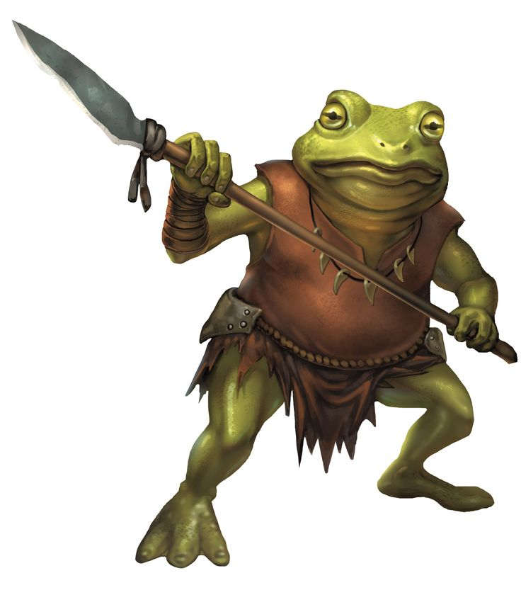Bullywug from the d amp d fifth edition monster manual art by