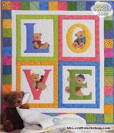 letters with teddy bears
