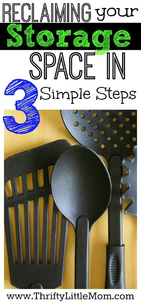 Reclaiming your storage space in 3 simple steps. If you are feeling a little over-run with stuff and running out of storage this is a post to inpsire you to take back your storage spaces.