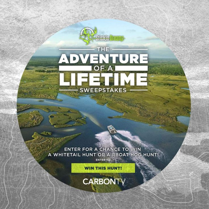 WIN the Adventure of a Lifetime in CarbonTV's biggest sweeps ever! Enter now - 4/30/17 to score thousands in prizes: www.CarbonTV.com/sweepstakes #Sweeps #Giveaway #Sweepstakes #Hunting #Hunt #Outdoors