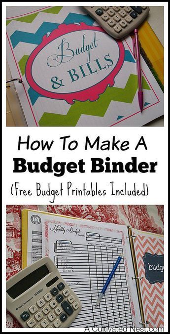 How to make a budget binder - This is a simple manageable system to get your finances organized in one place to make budgeting easier. Very easy to customize your own household budget notebook with free budget printables! How to start a budget, frugal living