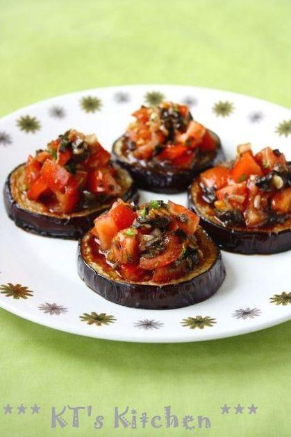 前菜にも最適。冷たく冷やしてどうぞ。おいしいドレッシングもパンに吸わせてきれいに食べちゃって下さい。 #eggplant #なす