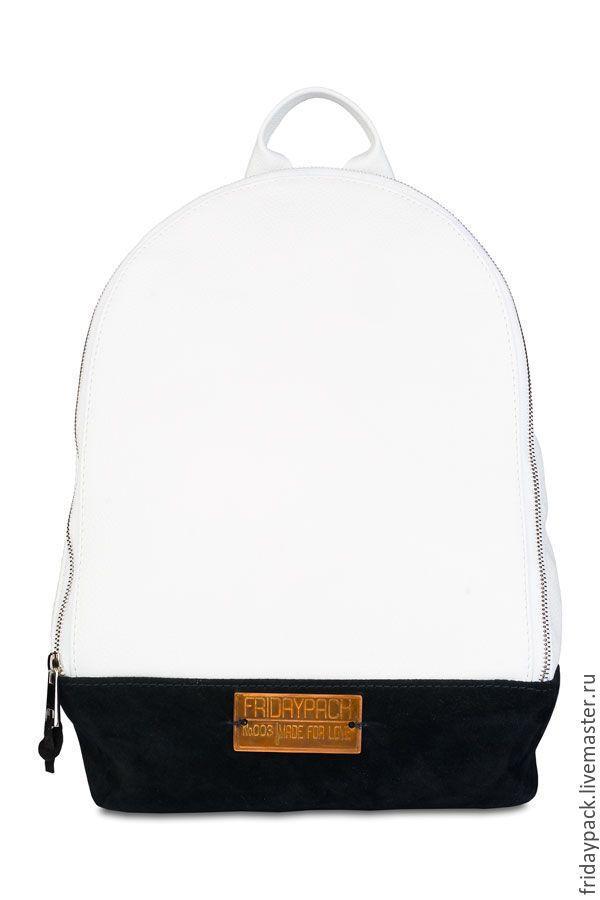 Купить рюкзак клатч - чёрно-белый, однотонный, рюкзак, рюкзак женский, рюкзачок, рюкзак кожаный