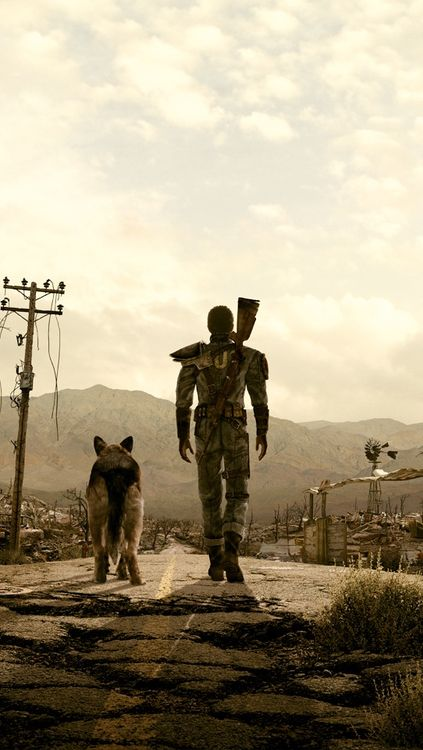 My favorite image from any game. Just a dude and his dog in the wasteland. Reminds me of me and my dog, in the suburbs. lol