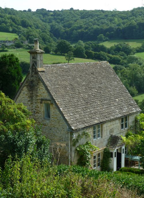 Rose cottage at Slad, Gloucestershire, England