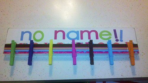 """Make a """"No Name"""" board for homeless homework.   25 Clever Classroom Tips For Elementary School Teachers"""