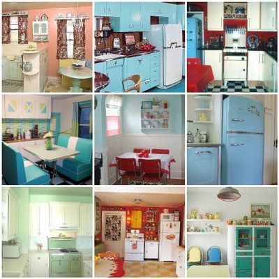First, decide on your color scheme. Do you gravitate towards bold primary colors and fruit patterns, replicating the 1940s, or the pink, aqua, chrome, jadeite green, and sunny yellow of the 1950s? Another style would be mod blue, orange, and brown hues from the 1960s and 1970s. Painting the walls one of these retro colors is the easiest way to change the look and feel of a room. Carry around your paint chips whenever you're shopping so that you know everything will be a perfect match to the…