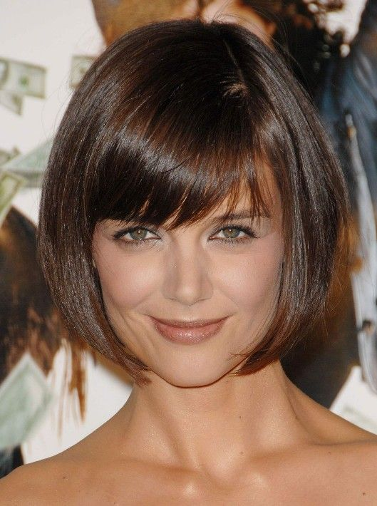 Cute short bob hairstyle from Katie Holmes | Hairstyles Weekly