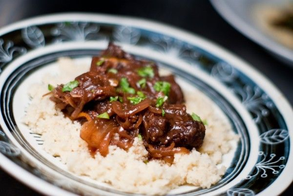Pomegranate Lamb Tagine with Preserved Meyer Lemons and Dates