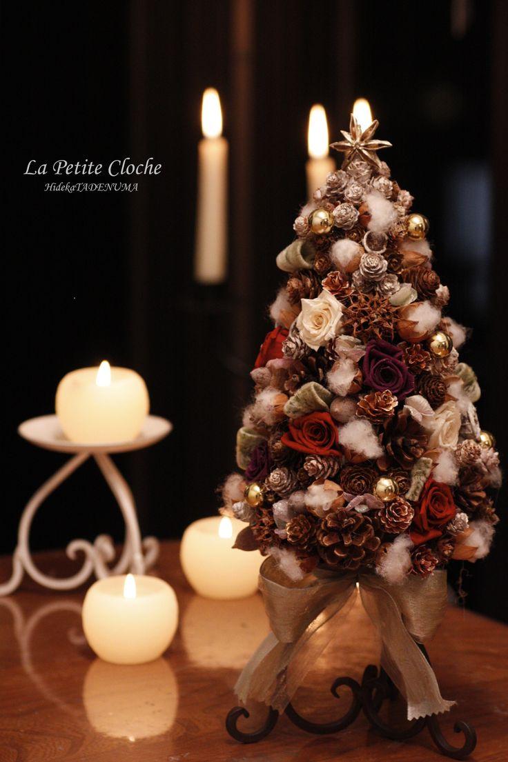 クリスマスレッスン「アイアンベースのクリスマスツリー」を追加しました。 La petite cloche fleur - プチ・クローシュ #クリスマスツリー #プチクローシュ #christmastree