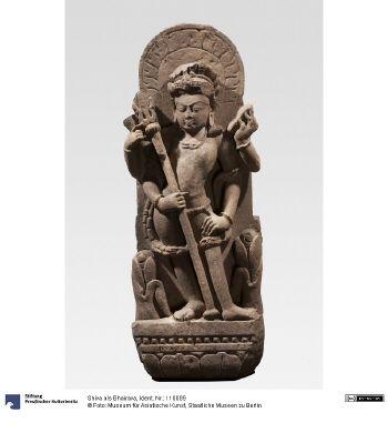 Shiva als Bhairava (Zentrales Indien, ca. 1000, Museum für Asiatische Kunst, Berlin).