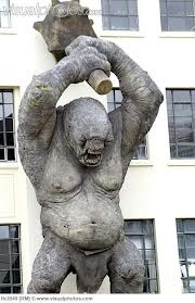 Statue of orc from Lord of the Rings, New Zealand Wellington