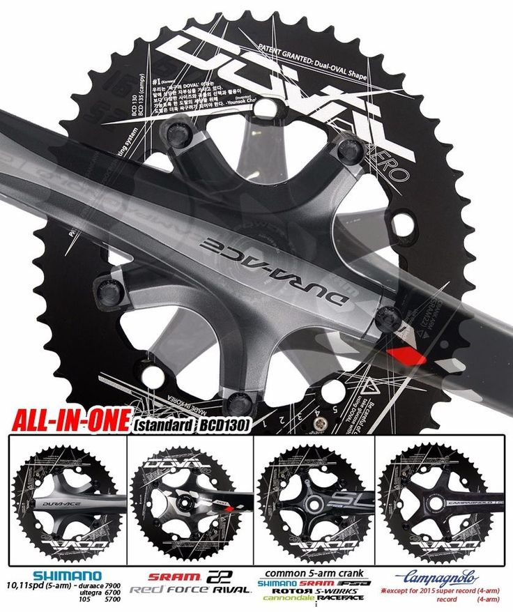 4G doval(11.7~16%) BCD130 chainring for 5arm (buy 3+ =>Free EMS ship) #Doval