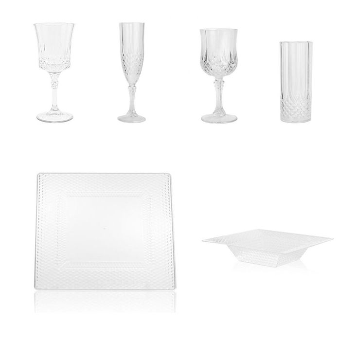 Engage Event Guests with Upscale Plastic Wedding Dinnerware. These disposable plastic dinnerware add a refined  sc 1 st  Pinterest & 29 best ~SOUPS \u0026 SALADS BOWLS~ images on Pinterest | Plastic bowls ...