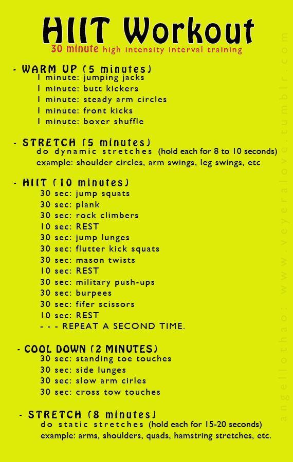 Best 25 30 minute hiit workout ideas on Pinterest