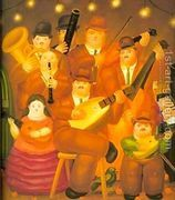 The Musicians 1979  by Fernando Botero