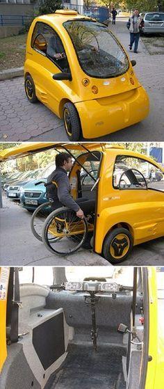 Kenguru Electric Car for Wheelchair Users.