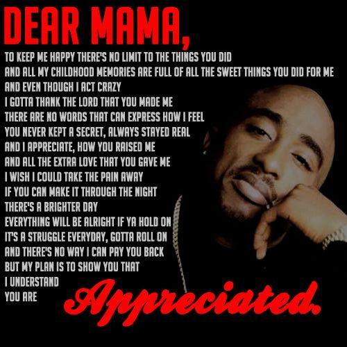 tupac lyrics dear mama - Google Search