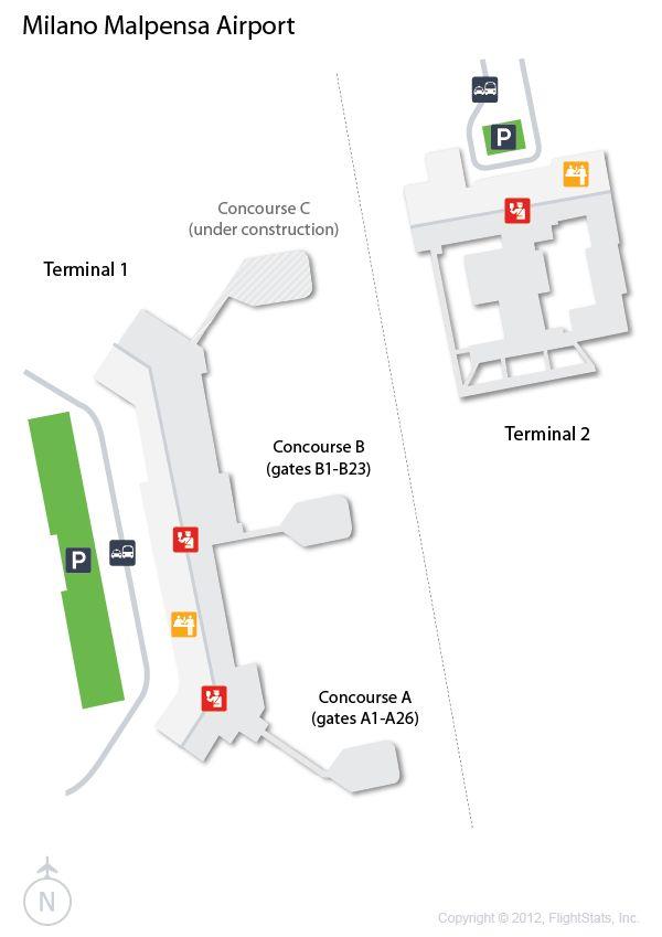 (MXP) #Milan Malpensa Airport Terminal Map