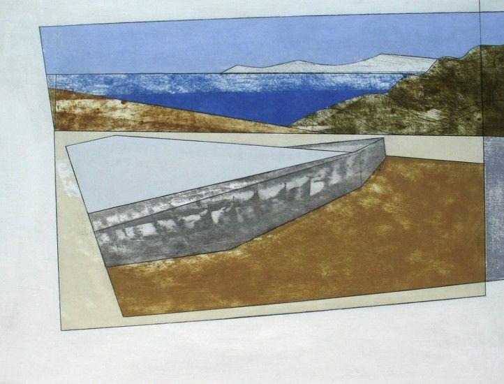 Vanessa Gardiner, Paros 7, acrylic on board, 61 x 85 cm | Quercus Gallery