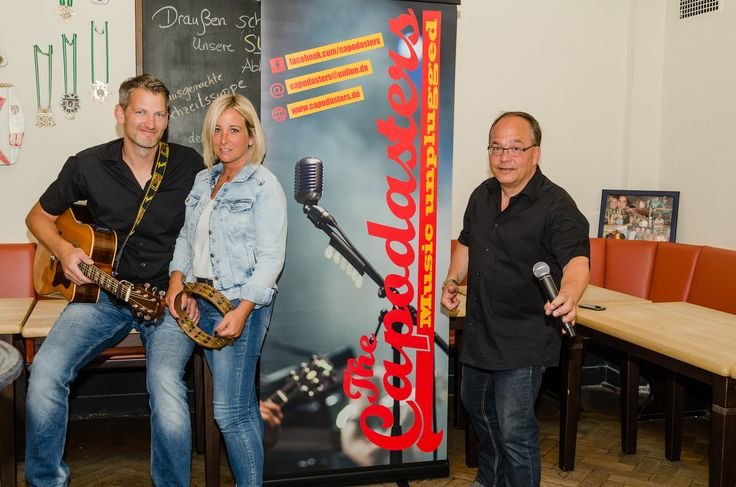 """Band """"Capodasters"""" kurz vor ihrem Auftritt in Emsdetten"""