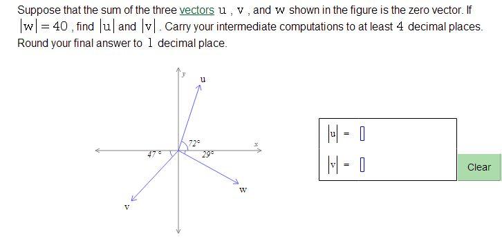 Help with Zero vectors? | VISION