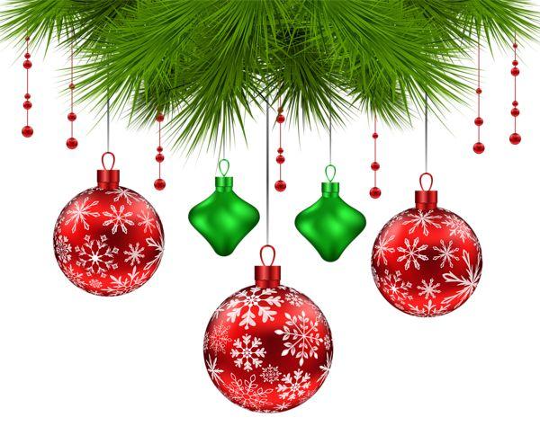 Christmas Pine Decoration PNG Clip Art Image