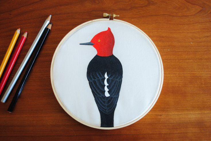 Magellanic woodpecker hand painted wall decor by SeresDelSur on Etsy