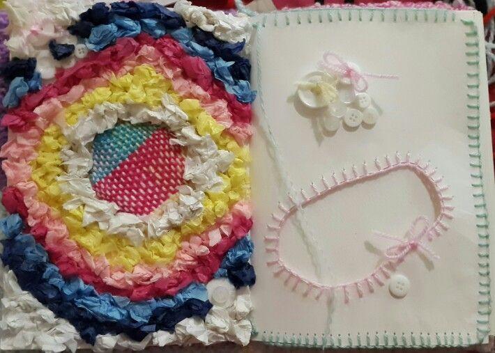 Knitting/sewing  art journal page