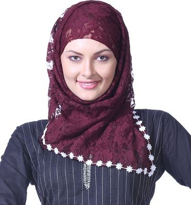 Styles of Hijab Fashion For Ramadan Daily Work Scarf Style 2014 1 Styles of Hijab Fashion For Ramadan & Daily Work Scarf Style 2014