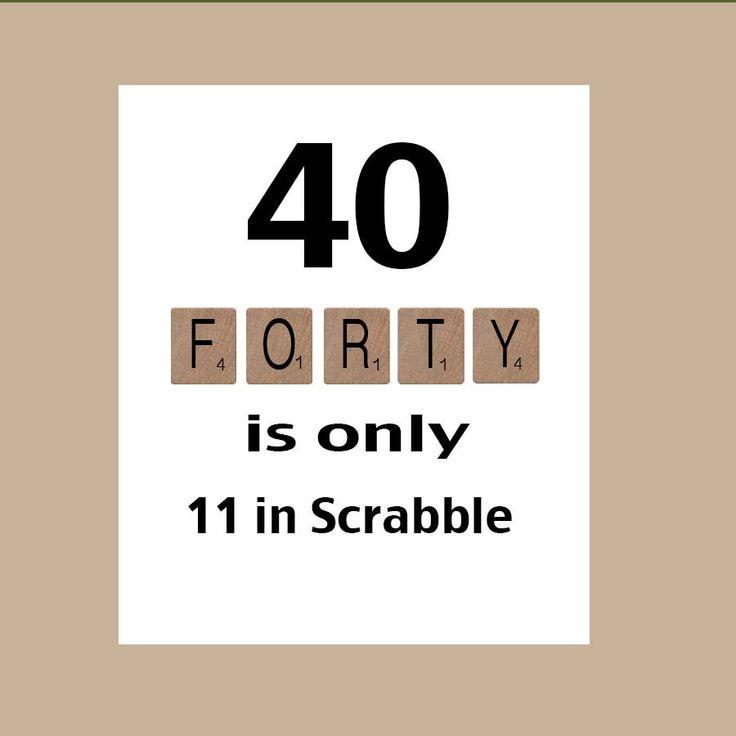40. Geburtstag Karte 40. Geburtstag Von DaizyBlueDesigns Auf Etsy